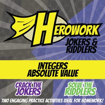 Herowork - Integers Absolute Value - Octopus Mystery Pic and Thesaurus Joke