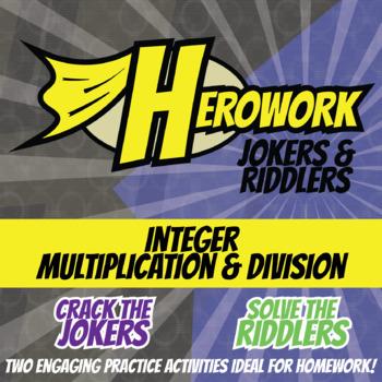 Herowork - Integers Multiplying and Dividing - Toucan Mystery Pic & Zero Joke