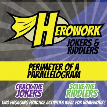 Herowork - Perimeter of Parallelogram - Jim Henson Mystery Pic and Flamingo Joke