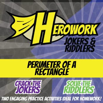 Herowork - Perimeter of Rectangles - Frog Mystery Pic and Paper Joke