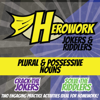 Herowork - Plural & Possessive Nouns - Knights Mystery Pic and Sunday Joke