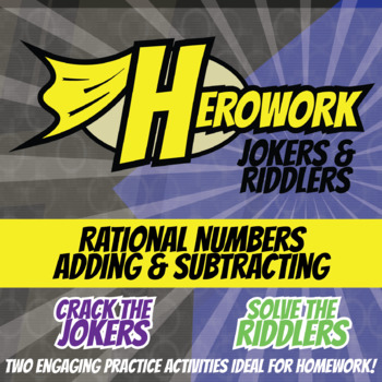 Herowork - Rational Numbers Adding & Subtracting - Blobfish Mystery Pic & Joke