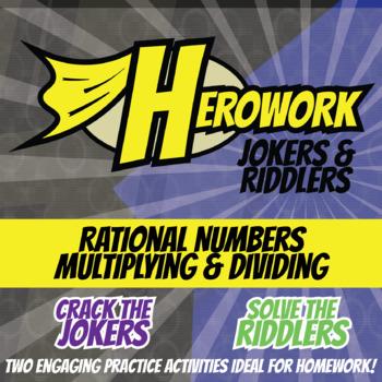 Herowork - Rational Numbers Multiplying & Dividing - Hippo Pic & Ant Joke