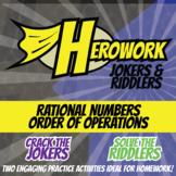 Herowork - Rational Numbers Order of Operations - Curie Mystery & Orange Joke