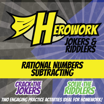 Herowork - Rational Numbers Subtracting - Declaration Mystery Pic and Butterfy