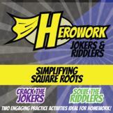 Herowork - Simplifying Square Roots - Bethany Hamilton Mystery Pic & Shovel Joke