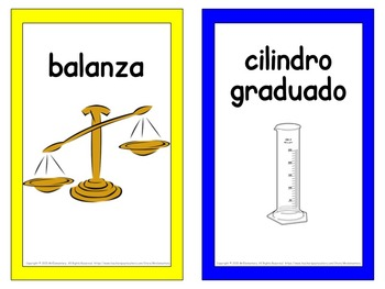 Spanish Scientific Tools Vocabulary