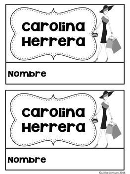 Herrera & De la Renta Readers {Hispanic Heritage Month} Bilingual version