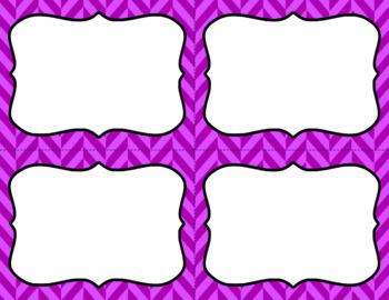 Blank Task Cards - Basics: Herringbone | Editable PowerPoint