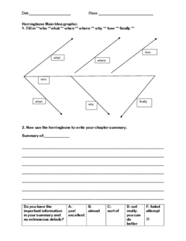 Herringbone Graphic Organizer