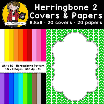 Herringbone Pattern Covers & Papers (CU)