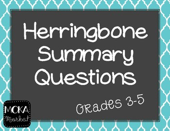 Herringbone Questioning Summary Graphic Organizer