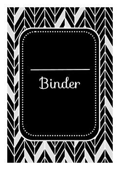 Herringbone Teacher Binder Pack