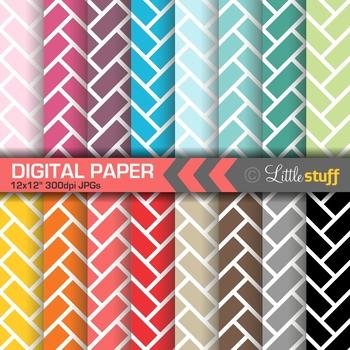 Herringbone Tile Digital Papers