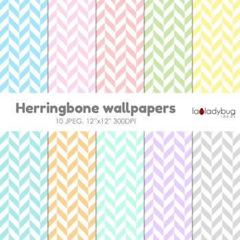 Herringbone digital papers. Wallpaper. Background. Pastel colors.