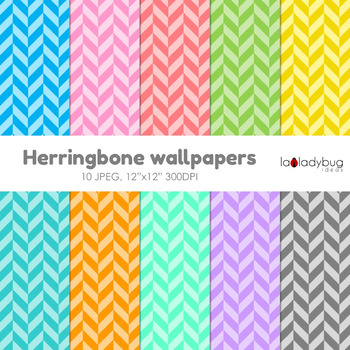 Herringbone digital papers. Wallpaper. Background. Soft colors.