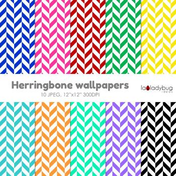 Herringbone digital papers. Wallpaper. Background. Bright colors.