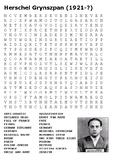 Herschel Grynszpan Kristallnacht Word Search