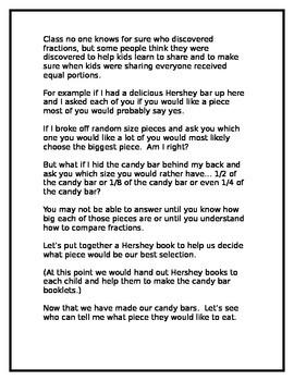 Hershey Bar Fraction Lesson