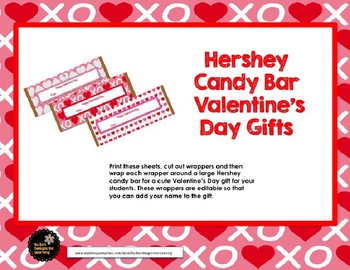 Hershey Candy Bar Valentine's Day Gifts