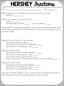Pre Reading Worksheet Hershey Fractions By Rock And Teach By Katie Texas  Tpt Classification Of Animals Worksheet Excel with Shading Fractions Worksheet Hershey Fractions Cesar Chavez Worksheet Pdf