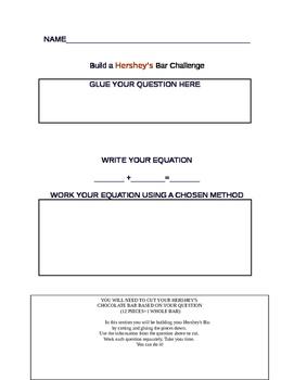 Hershey's Bar Fraction Challenge