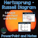Hertzsprung - Russell (HR) Diagram - PowerPoint and Notes