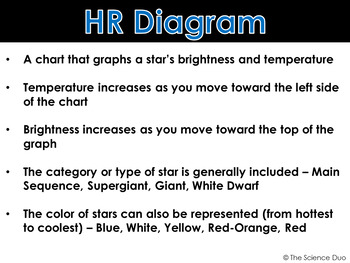 Hertzsprung russell hr diagram powerpoint and notes by the hertzsprung russell hr diagram powerpoint and notes ccuart Image collections
