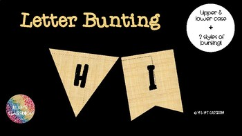 Hessian Style Letters for Bunting - 2 styles!