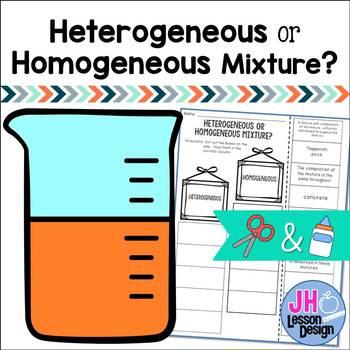 Heterogeneous and Homogeneous Mixtures Cut and Paste Sorting Activity