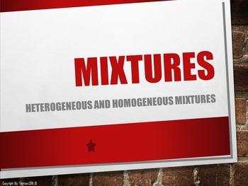 Heterogeneous and Homogeneous Mixtures Editable PowerPoint