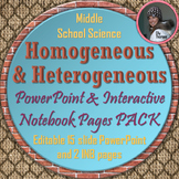 Heterogeneous and Homogeneous Mixtures INB Pages & PowerPoint Bundle