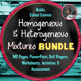 Heterogeneous and Homogeneous Mixtures BUNDLE