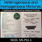 Matter: Heterogeneous and Homogenous Mixtures Warm Up