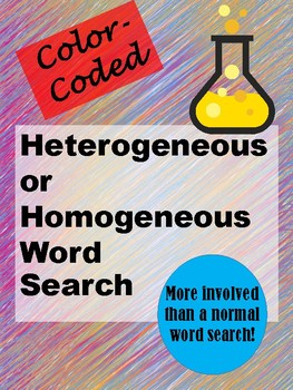 Heterogeneous vs. Homogeneous Word Search - Color-Coded