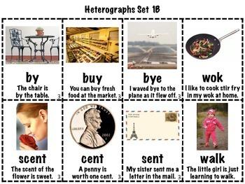 Heterographs Matching Games BUNDLE (Homophones/Multiple Meaning Words)