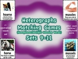 Heterographs Matching Games Sets 9-11 Other Patterns/Multisyllable (Homophones)