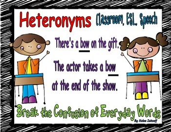 Heteronyms- Break the Confusion of Everyday Words