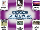Heteronyms Matching Games Set (Homographs/Multiple Meaning Words)