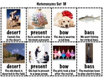 Heteronyms Matching Games Set (Homographs/Multiple Meaning Words)
