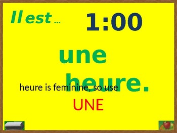 Heure (Time in French) PowerPoint