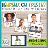 Heureux ou triste - Clip it task cards! + free digital Boom cards