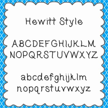 Hewitt Style Font {personal and commercial use; no license needed}