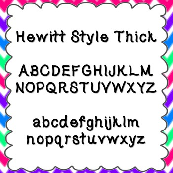 Hewitt Style Thick Font {personal and commercial use; no license needed}