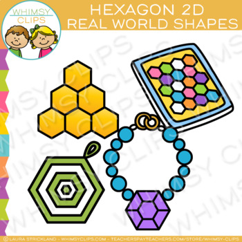 Hexagon Real Life Objects 2D Shapes Clip Art