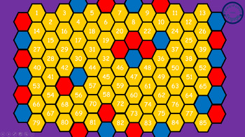 Hexagon Battle Review Game Template for Any Subject