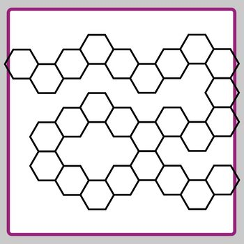 Hexagon Board Game Templates Clip Art Set Commercial Use