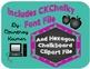 Hexagon Chalkboard Classroom Label Kit