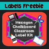 Hexagon Chalkboard Classroom Label Kit