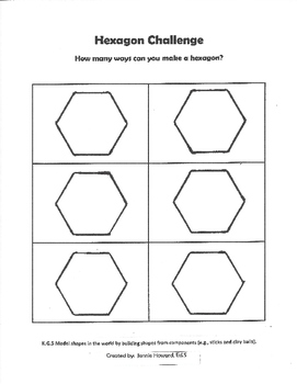 Hexagon Challenge (STEAM Activity)
